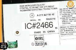 03-12 Mercedes R171 SLK350 GL550 CLS500 6 Disk CD Changer Player 2118275542 OEM