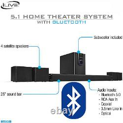 32 Bluetooth Surround Sound 5.1-Channel Music TV DVD Home Theater System Remote