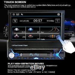 7 LCD Touchscreen Flip Out DVD CD USB MP3 Car Stereo Music Audio/Video Player