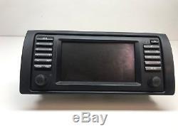 Bmw E39 E38 E53 Oem Wide Screen Gsp Navigation Radio Head Unit 65526913387