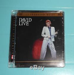 DAVID BOWIE- DAVID LIVE, ultra rare DVD-A, 5.1 Sound, Brand New