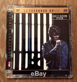 David Bowie Stage 5.1 Advanced Resolution Surround Sound DVD Audio Nice