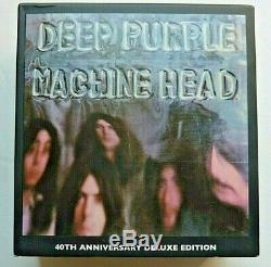 Deep Purple Machine Head 40th Anniversary box set 4 CD, 1 DVD 5.1 audio & book