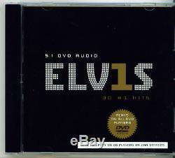 ELIVS PRESLEY 30 #1 HITS (DVD AUDIO 5.1) RARE OOP