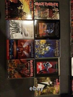 Iron Maiden Cd And Dvd Massive Lot