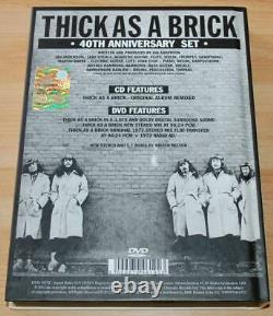 Jethro Tull Thick As A Brick 2012 40th Anniversary Edition CD/DVD Audio
