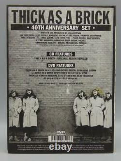Jethro Tull Thick As A Brick 40th Anniversary CD & Audio DVD Special Collecto