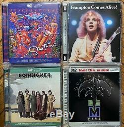 Lot of 4 DVD AUDIO Queensrÿche Santana Foreigner Peter Frampton rare OOP