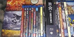 Lot of MUSIC BLU-RAY DVD Audio Rush Dokken Hendrix Beatles Pink Floyd Aerosmith
