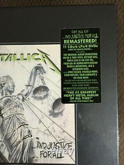 METALLICA And Justice for All Remastered 2018 Deluxe Box Set 6LP/11CD/4DVD