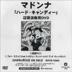 Madonna 4 Minutes DJ DVD-R Japanese promo DVD-R ACETATE WARNER MUSIC Japan