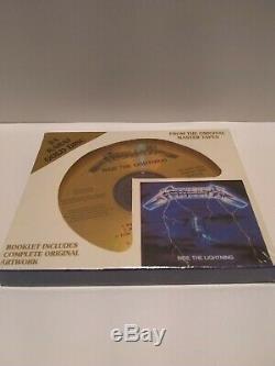 Metallica-Ride the Lightning (24K Gold CD) New Sealed VERY RARE