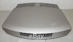 Nice! BOSE #AWRCC1 WAVE RADIO Music System with CD Player & REMOTE /Metallic Gray