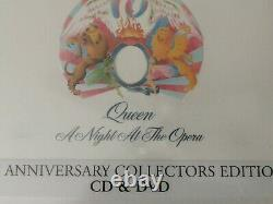 Night at the Opera 30th Anniversary Collector's Queen CD+DVD Audio 2005 SEALED