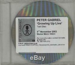 Peter Gabriel Growing Up Live Test Disc UK DVD promo DVD-R WARNER 2003