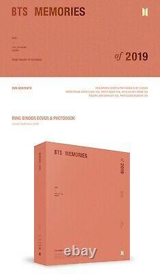 Rm Bts Memories Of 2019 DVD Album Kpop New Unsealed +preorder Gift Photo Frame