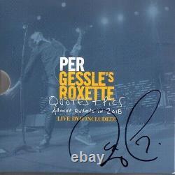 SIGNED Buch PER GESSLE Gessle's Roxette Quotes + Pics 2018 LIMITIERT LIVE DVD