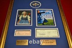 Signed SOUND OF MUSIC Julie Andrews, Maria Von Trapp, COA, Frame, DVD Set + MORE