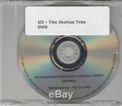 U2 The Joshua Tree 2007 UK promo DVD from Deluxe Edition box set