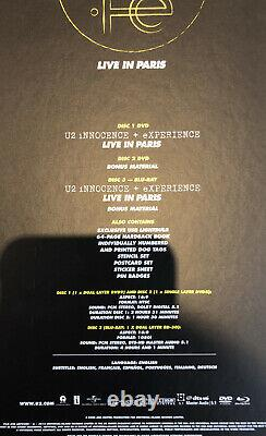 U2 iNNOCENCE + eXPERIENCE Live In Paris Super Deluxe Box Set Blu-ray & 2x DVD